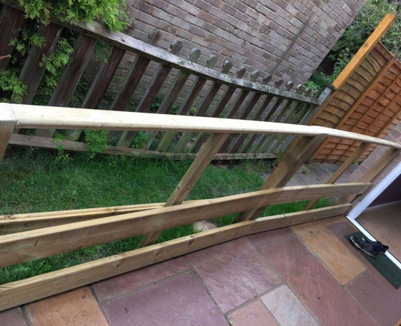 Block paved wheelchair ramp in Wheatley, Oxfordshire