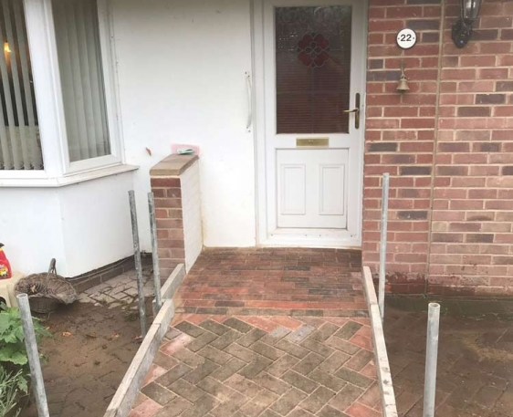 Wheelchair access ramp for home in Chinnor, Oxfordshire