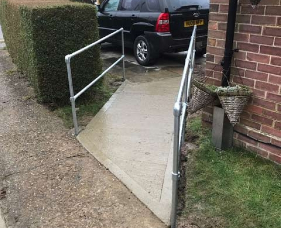 Wheelchair ramp built for customer in Princes Risborough, Buckinghamshire