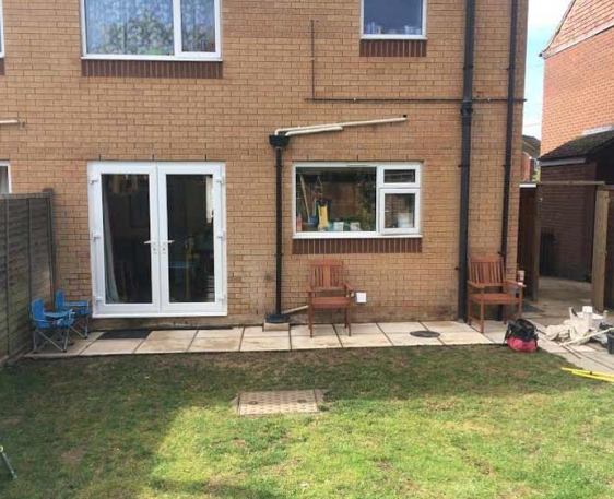 Patio and French Doors - Wooton, Oxfordshire